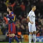Cristiano Ronaldo con un gol adelante de Messi
