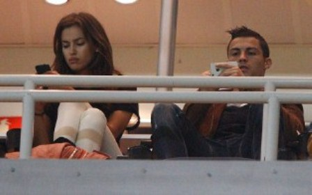 Cristiano Ronaldo e Irina Shayk distantes en el Trofeo Santiago Bernabeu