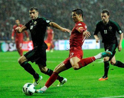 Amargo empate en el partido numero 100 de cristiano ronaldo con portugal