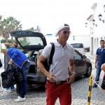 Cristiano Ronaldo llega a Portugal con leve lesión en el hombro izquierdo