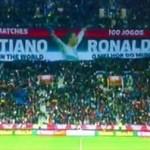 Homenaje a Cristiano Ronaldo en el estadio de Oporto por su centésimo debut