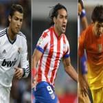 Messi y Falcao aumentan distancias con Cristiano Ronaldo en el Pichichi