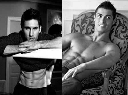 Lionel Messi vs Cristiano Ronaldo en el mundo del modelaje