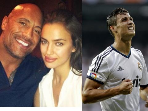 Irina Shayk y The Rock vs Cr7