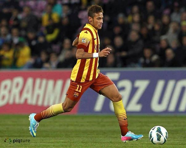 Barcelona Neymar Camisa Amarilla