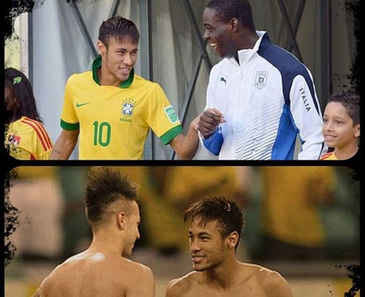 Neymar se declara fan de Balotelli y El Shaarawy