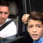 La increíble reacción de un niño al encontrarse con Leo Messi