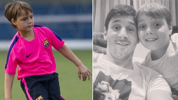 Agustín Messi Sobrino de Lionel Messi en el Barcelona
