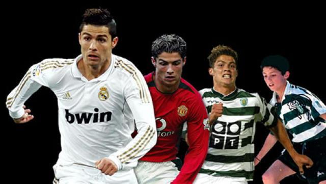 Cristiano Ronaldo en el Real Madrid, Manchester United y Sporting d eLisboa
