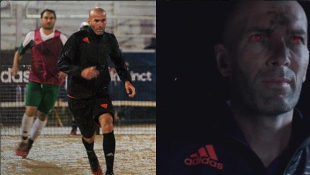 La magia de Zidane lo convierte en Depredador para promocionar a Adidas