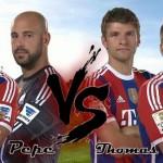 Jugadores de Bayern Múnich se enfrentaron en un Reto: Pizzaro, Reina vs Lahm, Muller