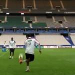 El increíble control de balón de Raphael Varane en entrenamiento de Francia
